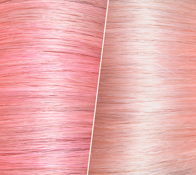 Before and After Pastel Pink