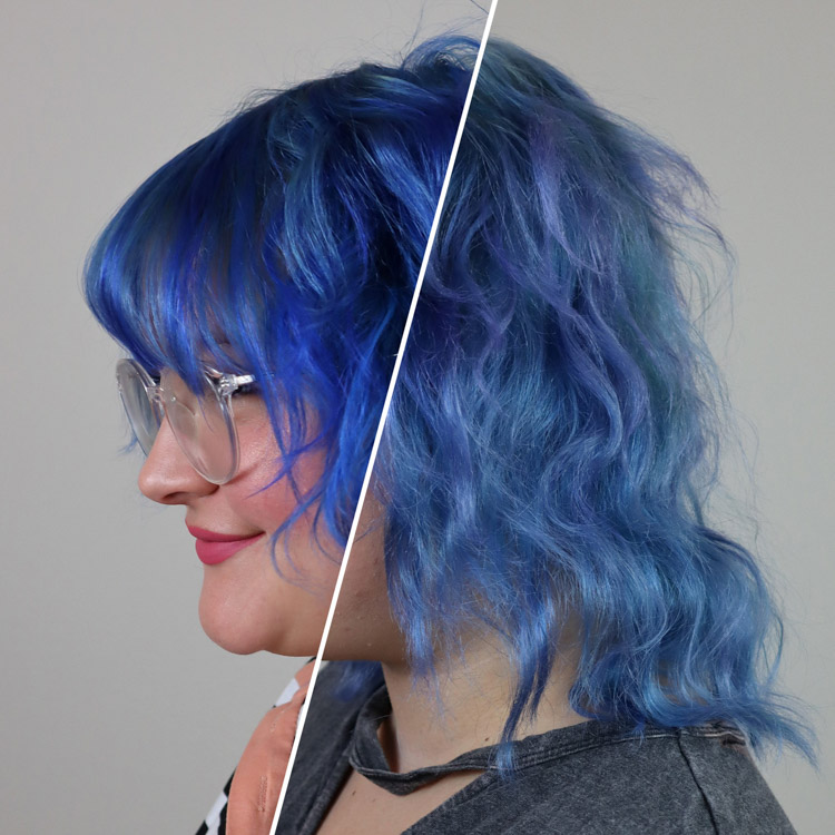 Before and after image of @xodearjune using The Fader Shampoo